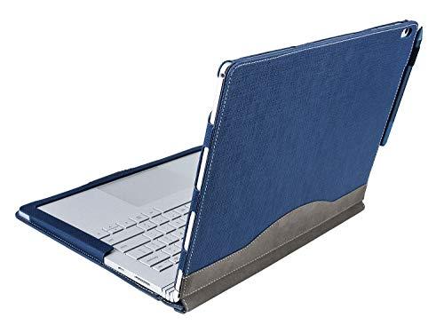 Calfinder Hülle für das Surface Book 2,Premium PU-Leder Hülle, 13.5 Zoll, lösbare magnetische Halterung, 2-Wege Nutzung, Blue