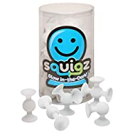 Fat Brain Toys Squigz Glow in The Dark Suction Toy - BPA-Free 24 Piece Set Building Set for Early Learners