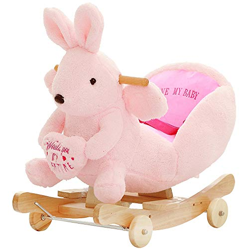 Find Cheap Kibten Children Kids Animal Rocking Horse Caring Rabbit Rocker Child Ride on Toy Toddler ...