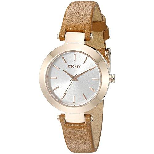DKNY Damen Analog Quarz Uhr mit Leder Armband NY2415