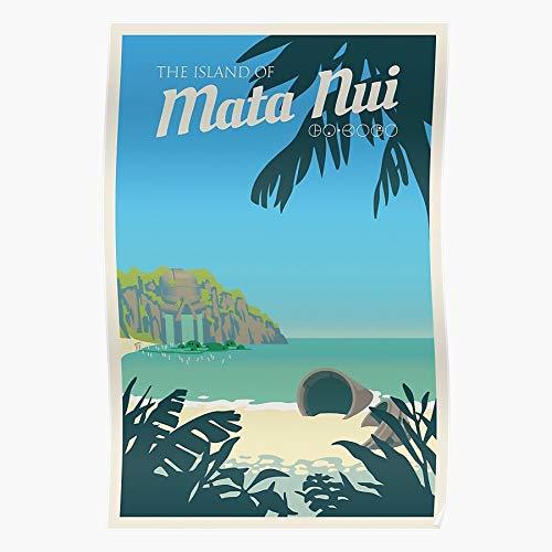 Generic Bionicle NUI Matanui Travel Vector Tropical Mata Island Home Decor Wall Art Print Poster !