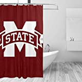 WDSC Mississippi State University Personalized Shower Curtain Machine Washable Home Bathroom Decorations Shower Curtain 60x72 in