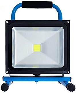 HENGMEI 20W Blanc froid Projecteur de Chantier /à LED rotatif et portable Rechargeable Lampe de Travail IP65 Etanche avec Teleskop tr/épied