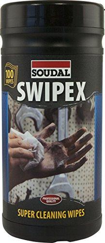 Soudal Swipex Reinigungstücher, extra großes Reinigungstuch für alle Fälle, Dose: 80 Tücher