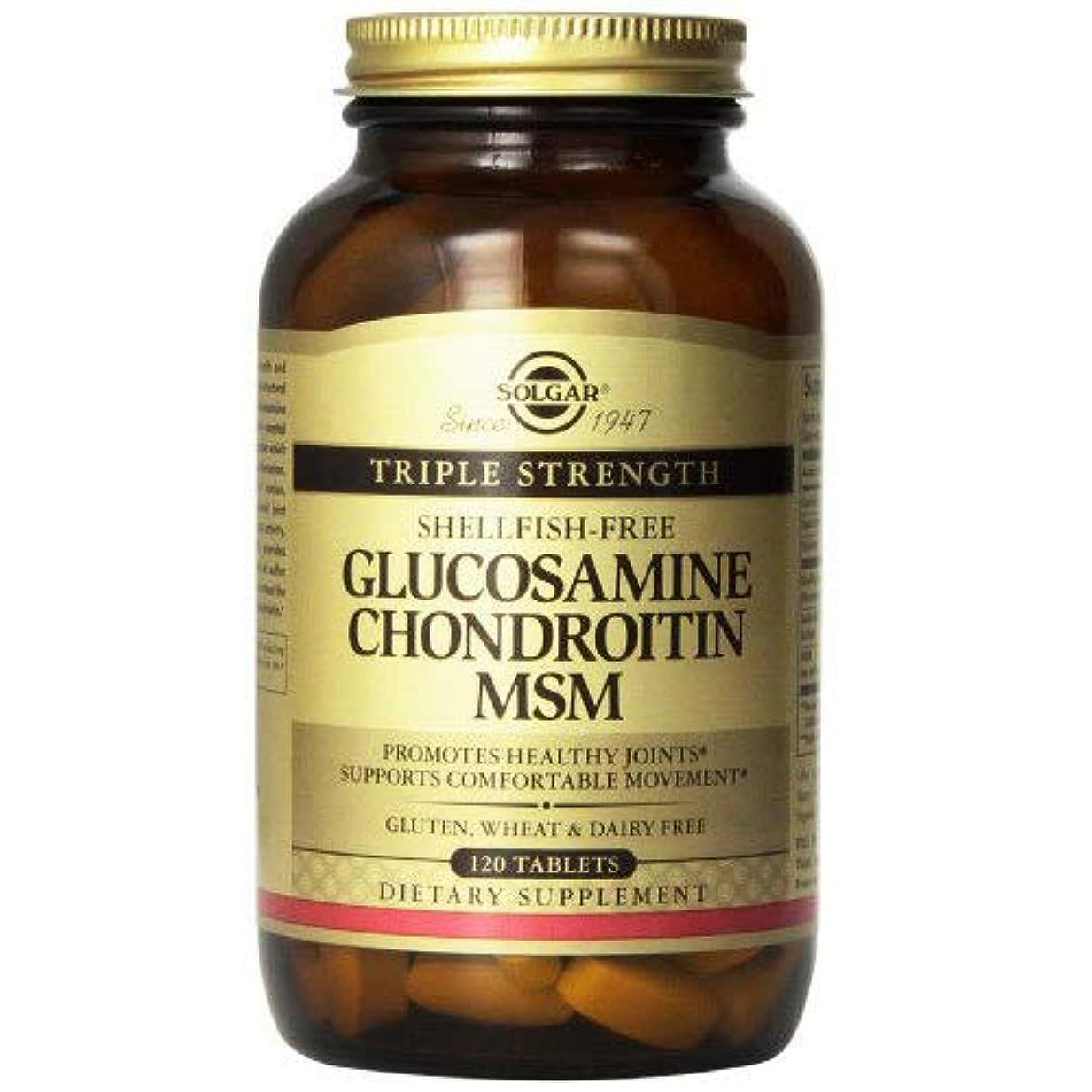 破裂果てしない雑種海外直送品Solgar Triple Strength Glucosamine Chondroitin MSM (Shellfish-Free) Tablets, Shellfish-Free 120 Tabs