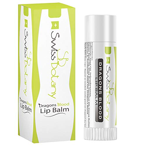Swiss Botany Dragon's Blood Lip Balm, Cruelty Free Natural Ingredients, Hydrating for Plumper, Younger Lips, Made in the USA, 1 Tube