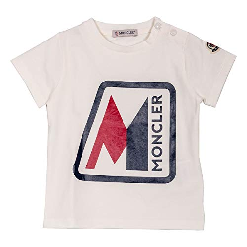 Moncler Luxury Fashion Baby 8C700208790A034 Weiss Baumwolle T-Shirt | Frühling Sommer 20