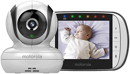 "Motorola MBP36SC Video Baby Monitor with 3.5"" Handheld Parent unit and Remote Pan & Tilt (2018 Version)"
