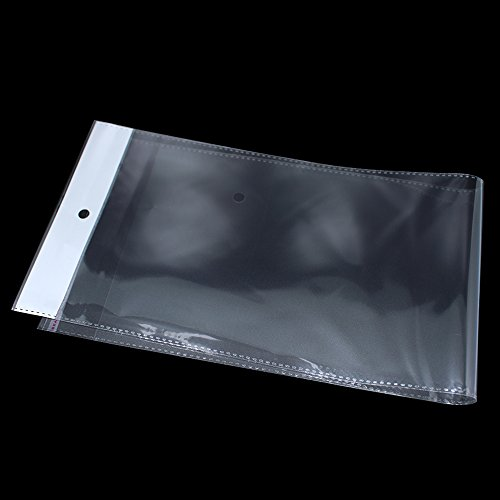 100 Pack Clear Self Adhesive Straig…