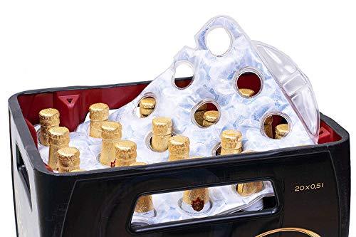 SELAGO Premium Bierkistenkühler Flaschenkühler Bierkastenkühler für 20x0,5L Bierkasten & 20x0,33L