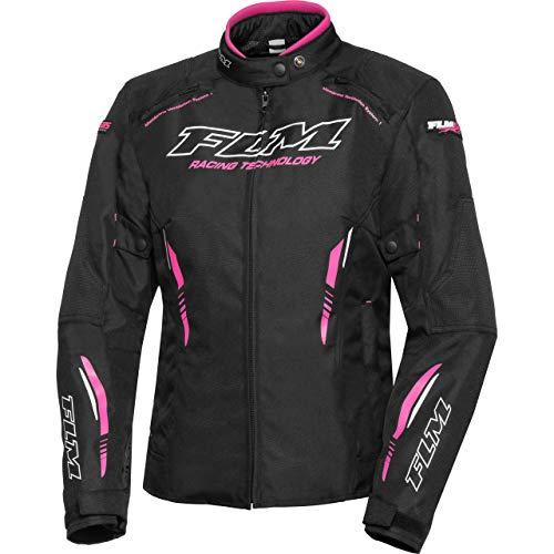 FLM Motorradjacke mit Protektoren Motorrad Jacke Sports Damen Textiljacke 6.0 pink L, Sportler, Ganzjährig