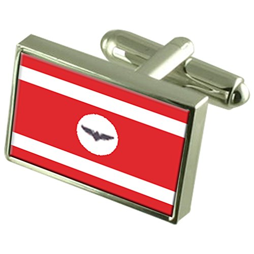 Select Gifts Città Ocnita Bandiera della Moldavia gemelli incisi Box