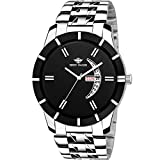 Eddy Hager Analog Date and Day Men's Watch (Black)