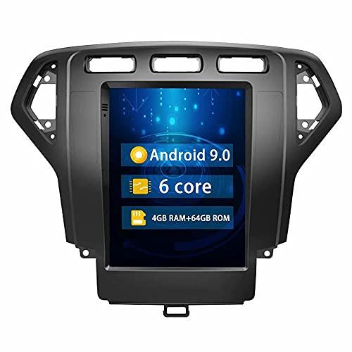 ROADYAKO 64GB 9.7Inch Indash Audio Car GPS Navegación Radio estéreo para Ford Mondeo 2007 2008 2009 2010 Android 9.0 Car Audio Video Media RDS FM Am Bluetooth SWC