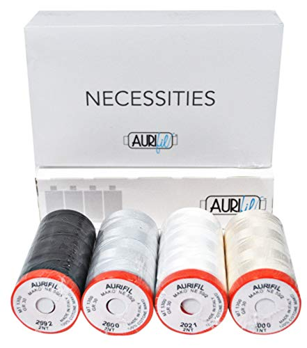Aurifil Necessities Thread Collection - 4 spools
