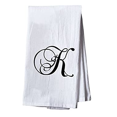 Style in Print K Initial Monogram Letter K Dish Flour Sack Kitchen Tea Towel