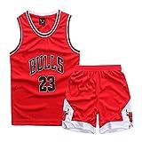 Niños Niños Niñas Hombres Nba Michael Jordan # 23 Chicago Bulls Camisetas de baloncesto retro Disfraces de verano Kits de uniformes de baloncesto Top + Shorts 1 juego