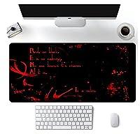 ゲーミングマウスパッド 黒と赤 Xxl ゲーマーデスクマットコンピュータ Pc ゲーミングマウスパッドラップトップテーブルパッド 1000MMx500MM