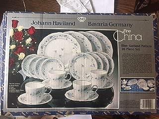 Bavaria Johann Haviland Blue Garland 20 Piece Set Setting for 4