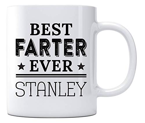 Best Dad Ever Stanley Gift Mug - Top Fathers Day Gifts For Dad, Husband, Men - Unique Gift Idea For Him From Daughter, Son, Wife - Cool Birthday Present Fun Novelty Coffee Cup 11oz White