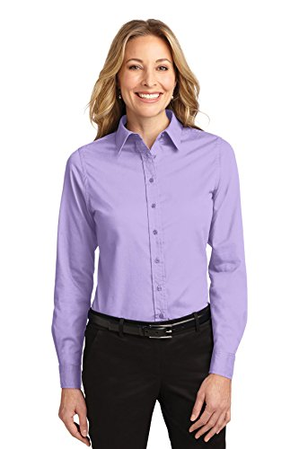 Port Authority Ladies Long Sleeve Easy Care Shirt, Bright Lavender, Medium