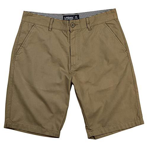 Urban Boundaries Men's Flat Front Chino Shorts (Khaki, Size 44)