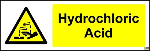 Advertencia ácido clorhídrico seguridad señal–autoadhesivo adhesivo 300mm x 100mm