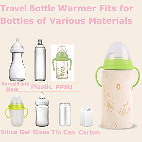 Travel Bottle Warmer for 120-300ML Bottles Mini Baby Bottle Warmer 5V USB Portable Bottle Warmer Heater Keep Milk Food Juice Cup Warm When Driving Traveling