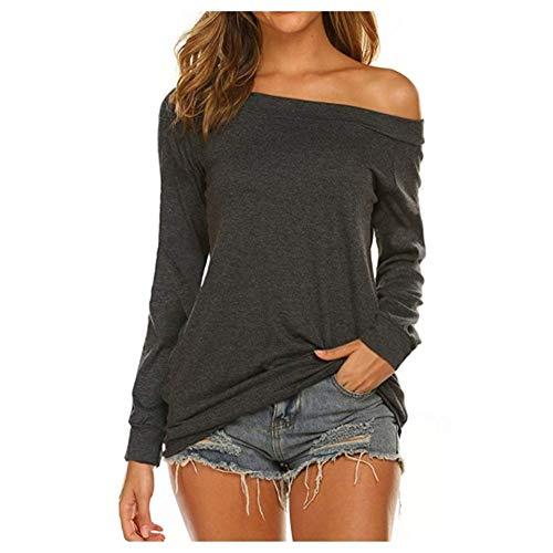 Herbst langes ärmelloses einfarbiges trägerloses Top-T-Shirt S-2XL für Damen