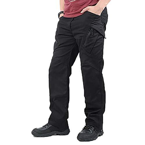 Fanville Men Work Cargo Lange broek met zakken, losse broek, heren, cargobroek, hoogpresterend, onderhoudsvriendelijk, multifunctionele werkveiligheid L. zwart