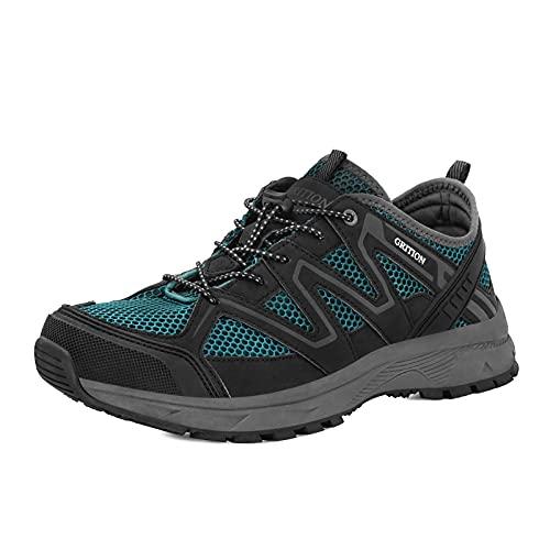 GRITION Zapatos de agua para hombre, transpirables, de secado rápido, zapatos de playa, zapatos de playa antideslizantes., color Verde, talla 41 EU