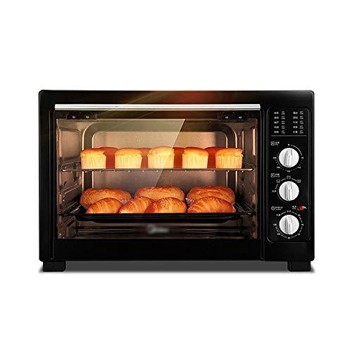 CL- Chun Li Electric Mini Oven - Black 38-litre large capacity multi-function four-layer baking oven, 53.5x39.5x35.5cm toaster oven (Color : Black)
