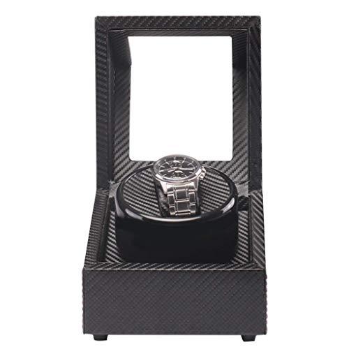 Bobinadora automática de relojes, bobinadoras domésticas Mini caja de motor ultra silenciosa Caja agitadora de mesa de gama alta Caja de cajas de rotación de bobinado (Color, Tamaño: Talla única)