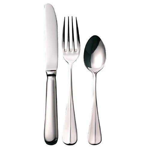 Olympia s388 Couteau de table, fourchette et cuillère désert, Ensemble de l'échantillon Couverts Baguette, Haute polonais Finition, en acier inoxydable