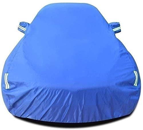 Zfggd Cubierta del Coche Compatible con Porsche Panamera Turbo S E-Hybrid Ejecutivo Cubierta del Coche Impermeable y Transpirable Grueso de Protección Solar Lluvia de toldos de Lona (Color : Blue)
