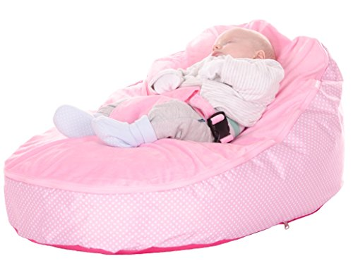 Awe Inspiring Baby Bean Bag Rocker Chair In Pink Spotty Including Filling Machost Co Dining Chair Design Ideas Machostcouk