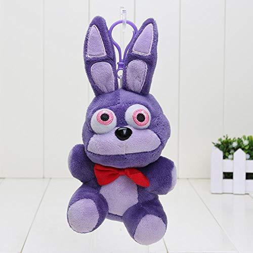 wwwl Jouet en Peluche 14CM Bear Keychain Five Nights at Freddy's 4 Pendant Plush Toys purplebonnie