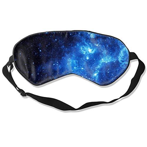 Schlafmaske aus Seide, Galaxie-Maske mit verstellbarem Kopfband, blockiert Licht und Augenbinde