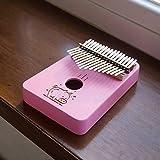 LITONGFU Piano de Dedo 17 Teclas Cute Cartoon Pink Girl Gift Instrumentos Musicales