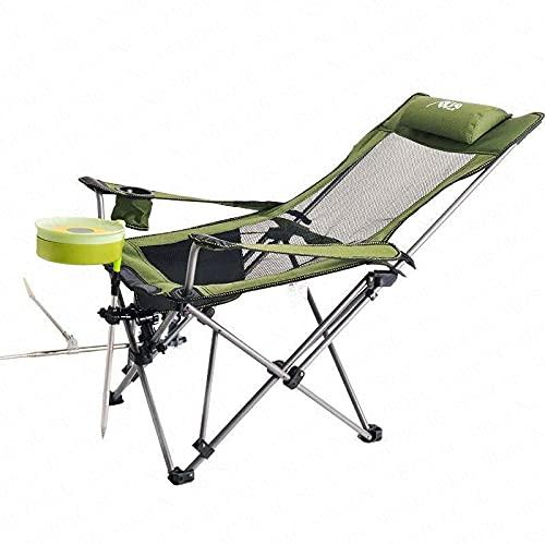 Sillón Reclinable Al Aire Libre Silla Reclinable con Respaldo Portátil Silla Plegable para Exteriores para Ocio Playa Pesca Siesta Almuerzo Camping Playa Picnic 2