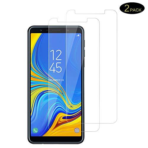 DOSMUNG Galaxy A7 2018 Panzerglas, Galaxy A7 2018 Schutzfolie Bildschirmschutzfolie [9H Härte] [Anti-Kratzer] [Anti-Öl] [Anti-Bläschen] [Anti-Fingerabdruck] Panzerglasfolie für Galaxy A7 2018
