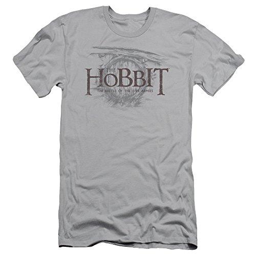 Hobbit - Herren-Tür-Logo Slim Fit T-Shirt, XX-Large, Silver