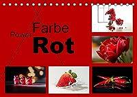 Powerfarbe Rot (Tischkalender 2022 DIN A5 quer): Die Farbe rot bringt Power, bringen Sie damit Leben an Ihre Wand (Monatskalender, 14 Seiten )