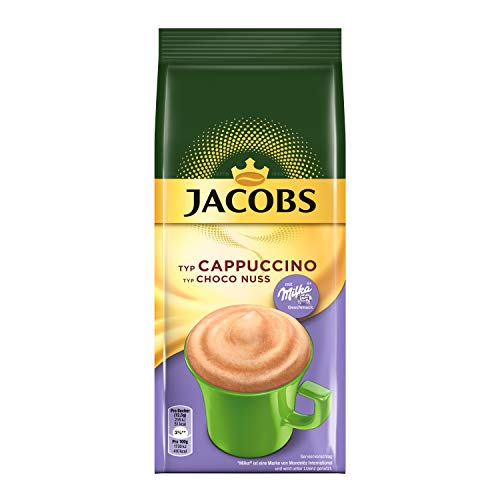 Jacobs Cappuccino Choco Nuss, 12 x 500 g Kaffeespezialitäten im Nachfüllbeutel