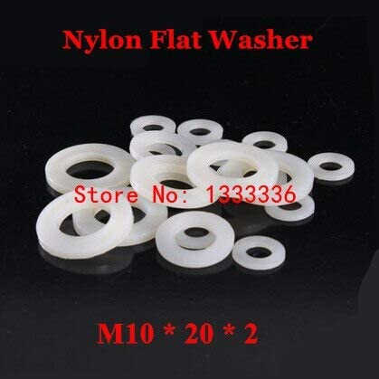 Lysee Washers Super Special SALE held - 1000pcs M10202 Nylon 2021 model Flat Washer Pla M10 White