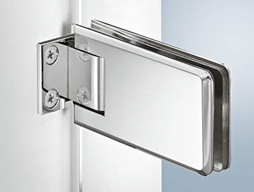 Gedotec Duschtürband gerade Glastürscharnier VITA-230 für Glastüren und Duschen | Glastürband für Glasdicke 8-12 mm | Duschkabinen-Scharnier mit Schließautomatik & Öffnungswinkel 90° | 2 Stück