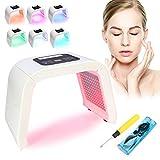 7 couleurs lampe de beauté photodynamique lumière PDT Led, lumière Appareil de beauté pour peau traitement anti-rides Spot Distance acné anti-âge raffermissement de la peau acné Traitement(EU Prise )