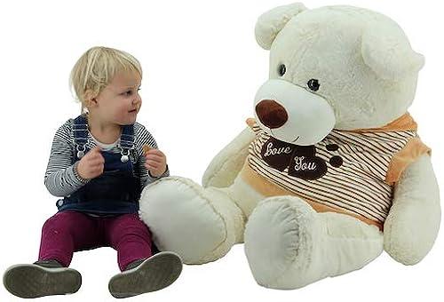 alta calidad Sweety Toys 5376 gigante oso oso oso de peluche de Color beige 120 cm  grandes ofertas