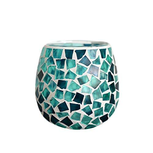 Weimay. Farol de Mosaico Oriental/Variedad de Colores/Portavelas de Cristal Oriental Oriental/Cristal terrario Boda portavelas candelabro como decoración