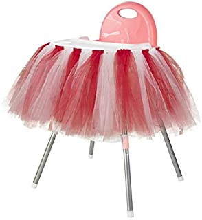 Birthday Baby Red Table Skirt High Chair Skirt Decoration for Party Supplies Party Decoration